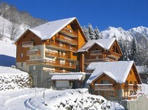 Chalet du Verney in the snow