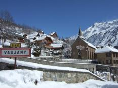 Vaujany in the snow