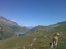 Col du Sabot view to Mont Blanc