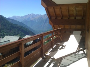Sun Loungers on the balcony at A10 Chalet du Verney